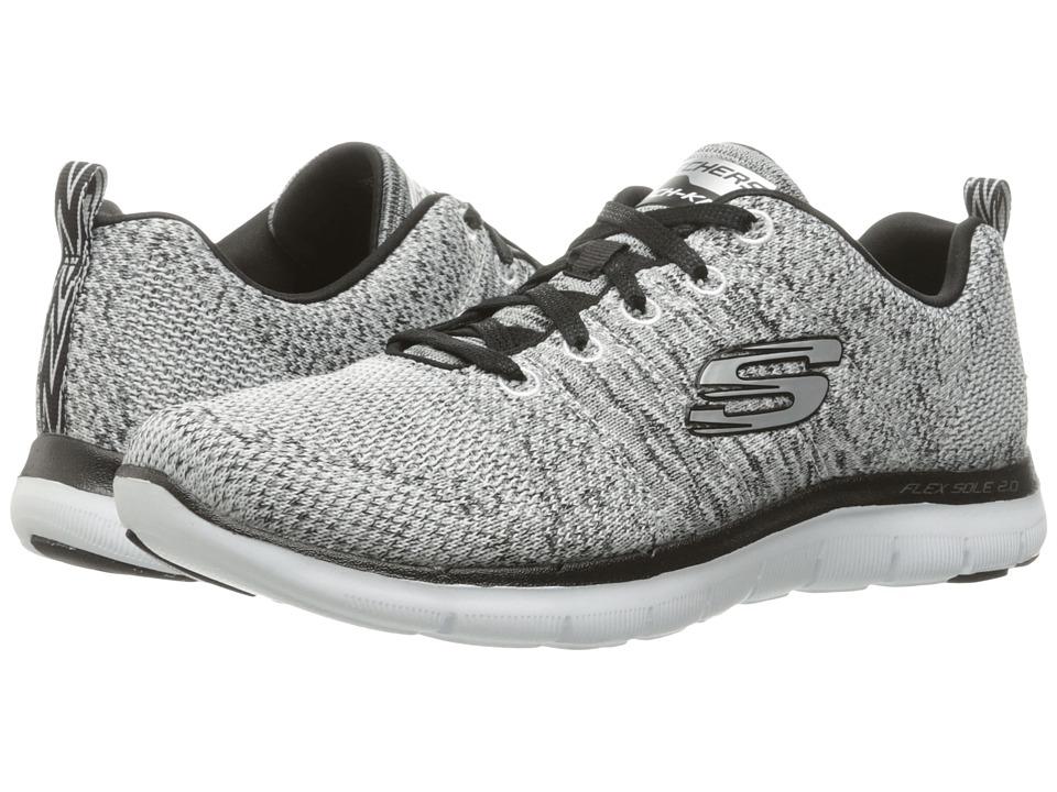 Skechers Flex Appeal 2.0 - High Energy (White/Black) Wome...