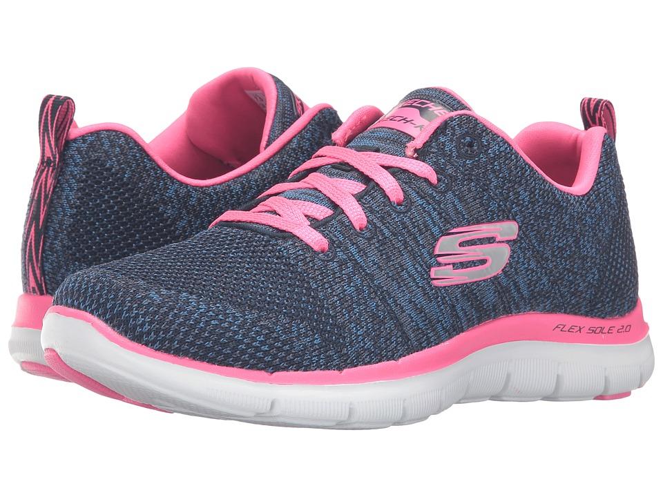 Skechers Flex Appeal 2.0 - High Energy (Navy/Pink) Women'...