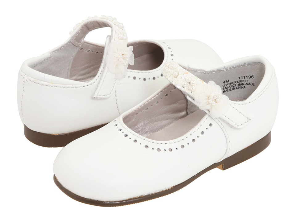 Jumping Jacks Kids Annalise Toddler/Little Kid White Leather Girls Shoes