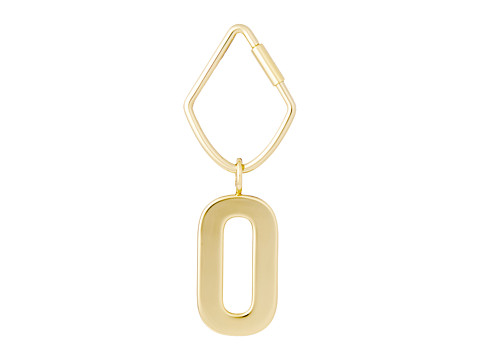 Fossil Letter Bag Charm - Gold-O