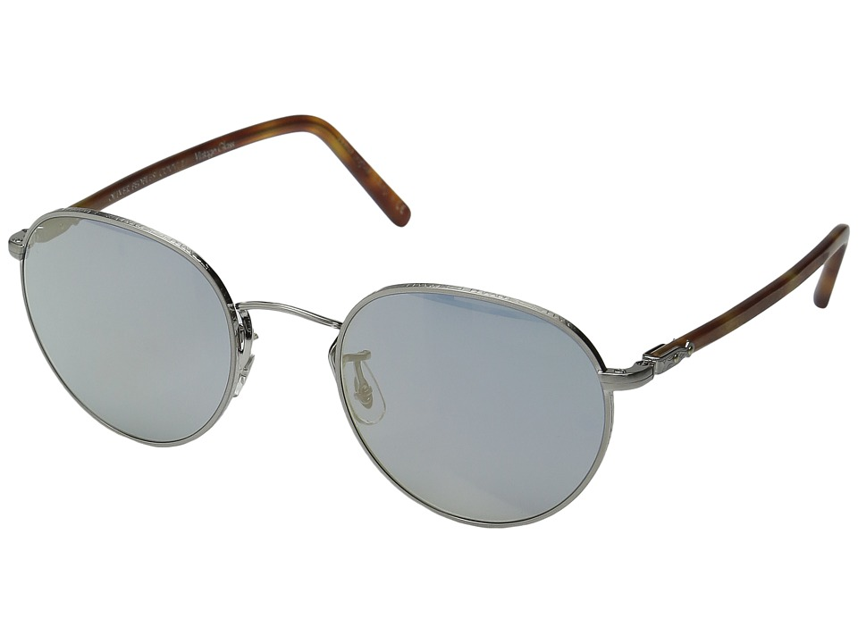 Oliver Peoples Hassett (Brushed Silver/Semi-Matte Light B...