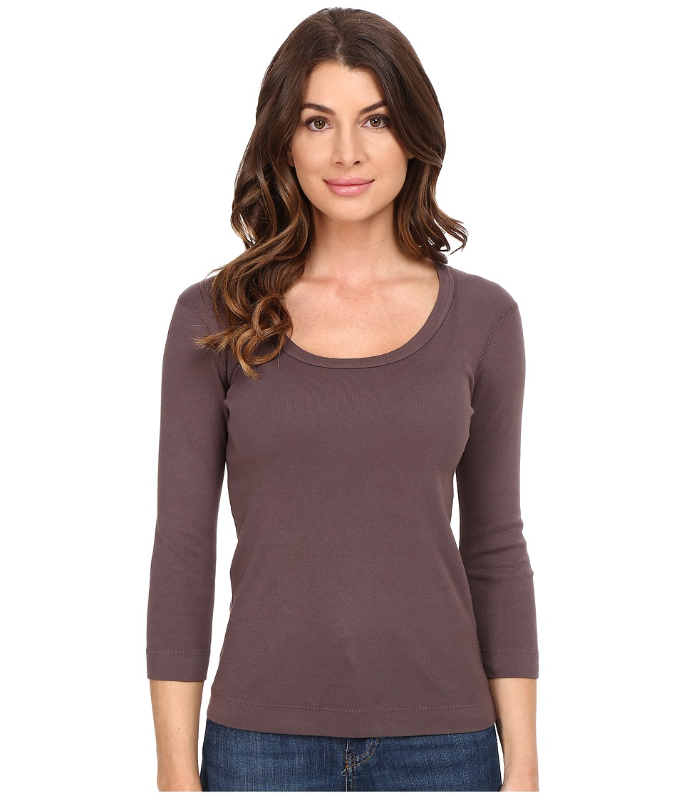 Three Dots - 3/4 Sleeve Scoop Neck (Stardust) Women