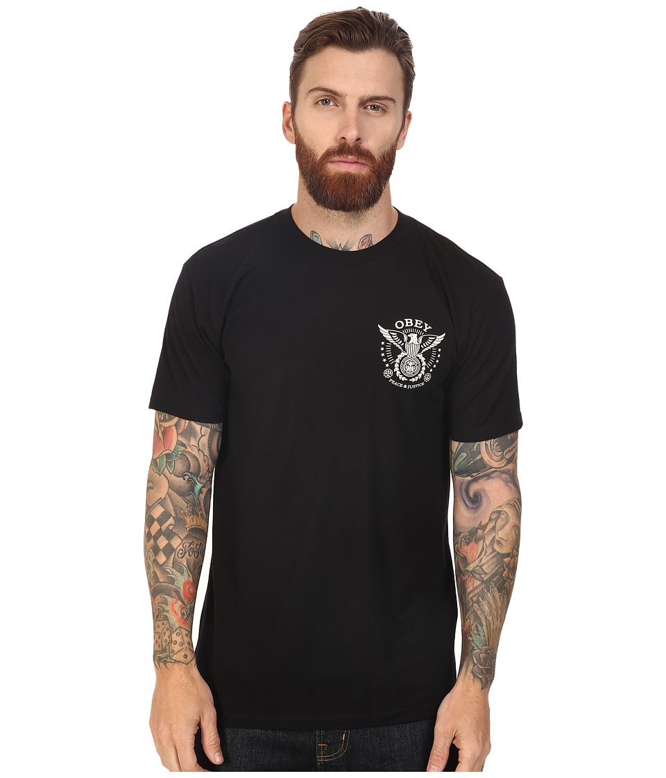 Obey - Peace Justice Eagle (Black) Men