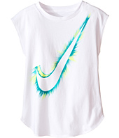 Nike Kids - Burst Swoosh™ Modern Short Sleeve Tee (Little Kids)