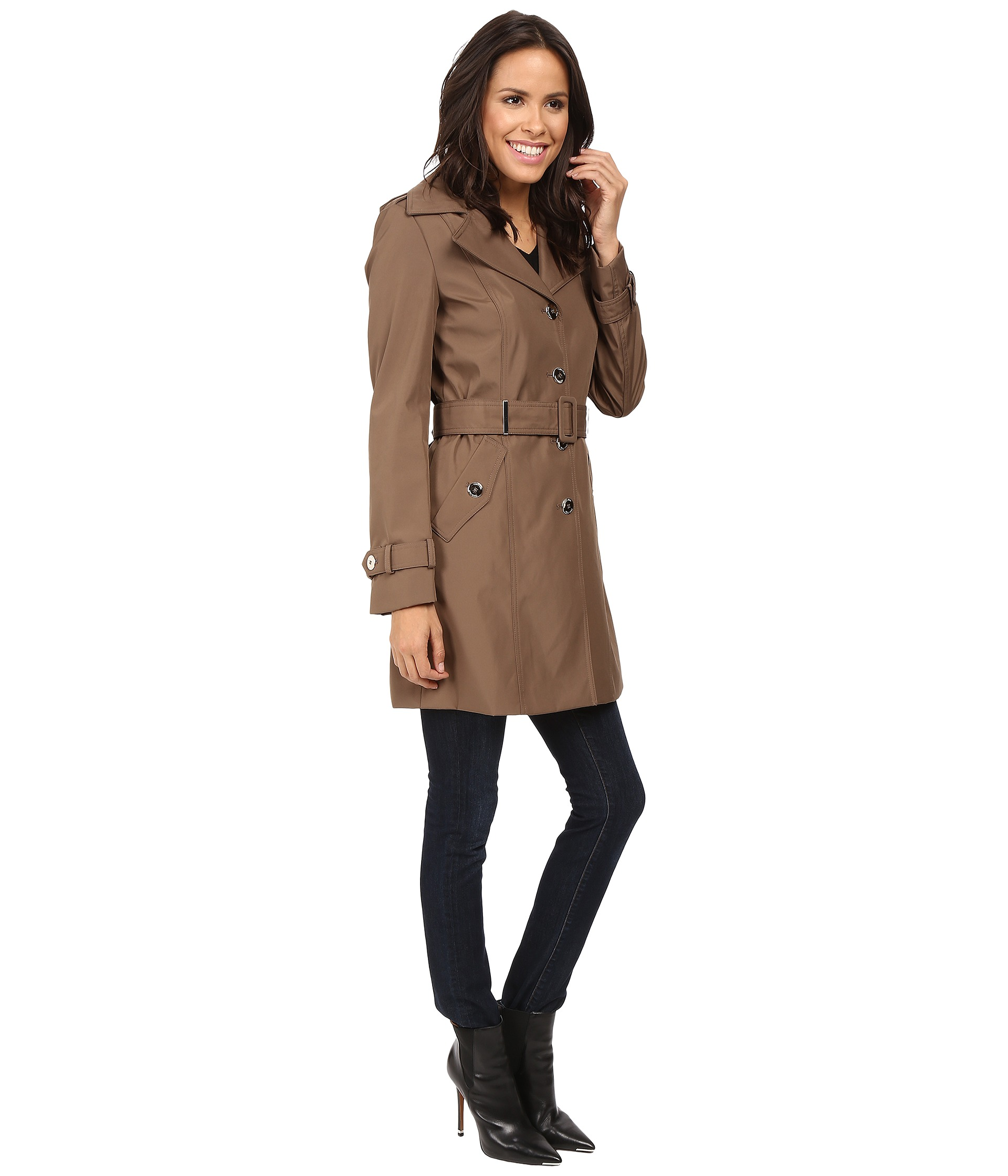 Calvin Klein Single Breasted Rain Trench - Zappos.com Free