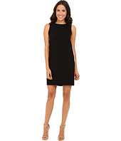 Tahari by ASL - Crepe Shift Dress w/ Printed Side Panels and V-Back