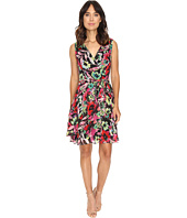 Tahari by ASL - Faux Wrap Printed Chiffon Dress