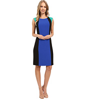 Tahari by ASL - Crepe Color Block Sheath Dress
