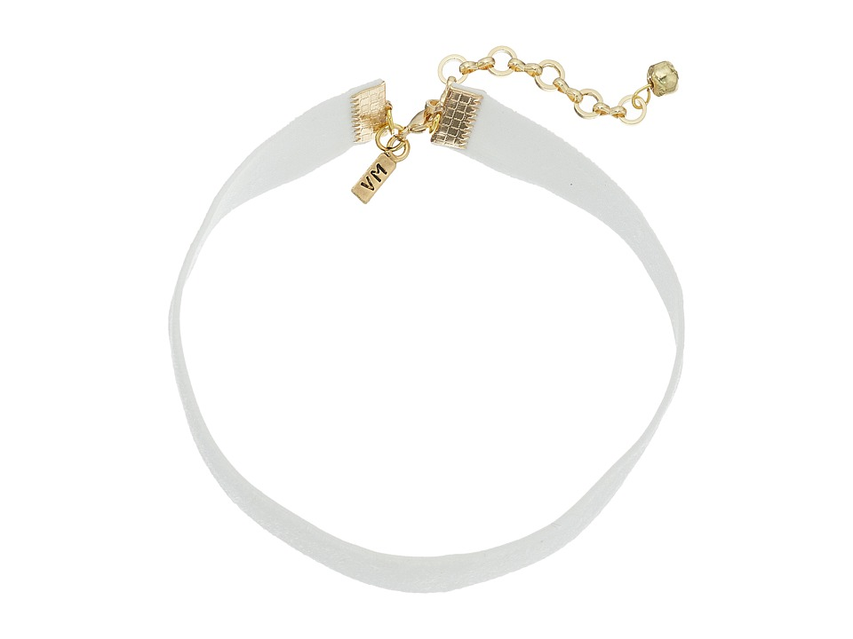 Vanessa Mooney - 1/2 Velvet Choker Necklace (White) Necklace