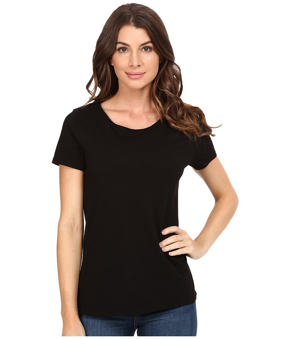 Three Dots Francine Short Sleeve Tee (Black) Women