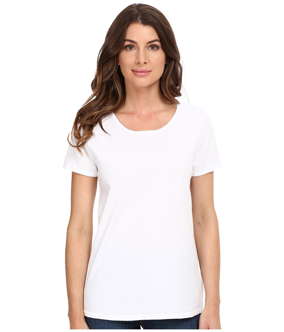 Three Dots Francine Short Sleeve Tee (White) Women