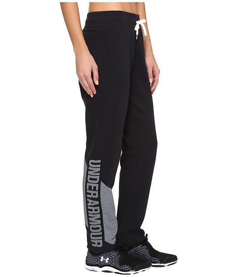 Under Armour Favorite Fleece Pants - Black/White