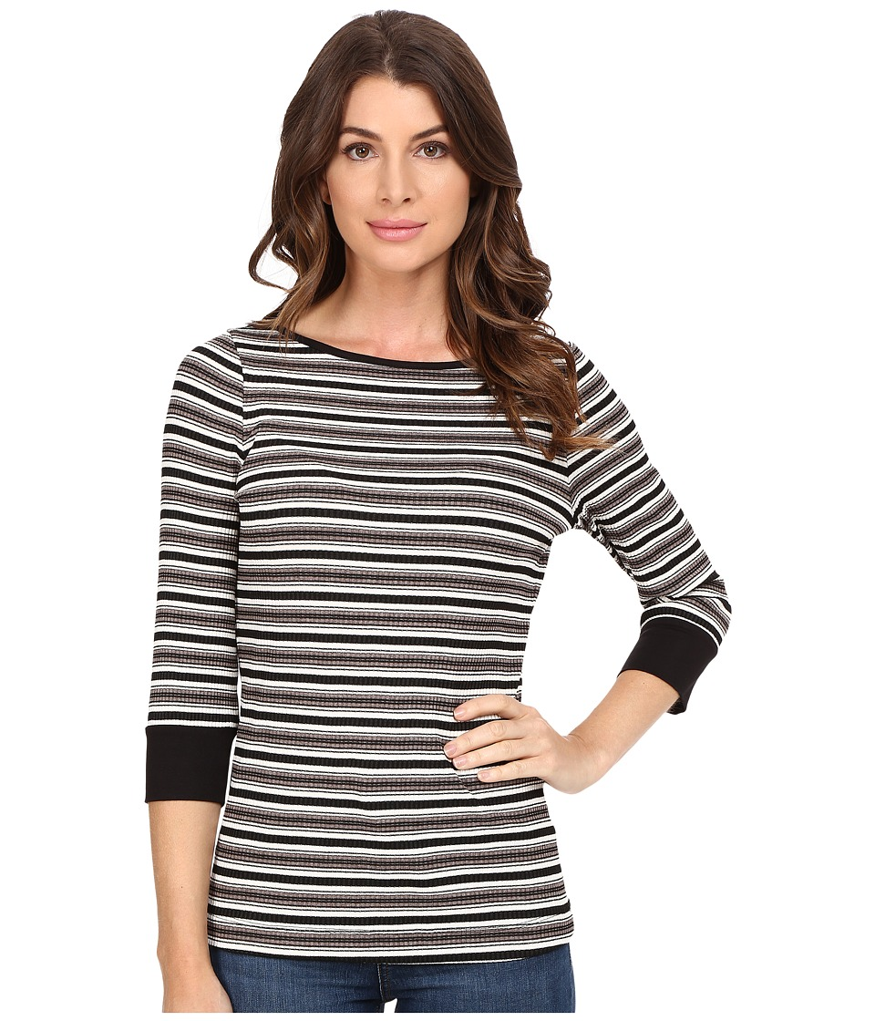 Three Dots - Melinda - 3/4 Sleeve British Tee (Multi) Women