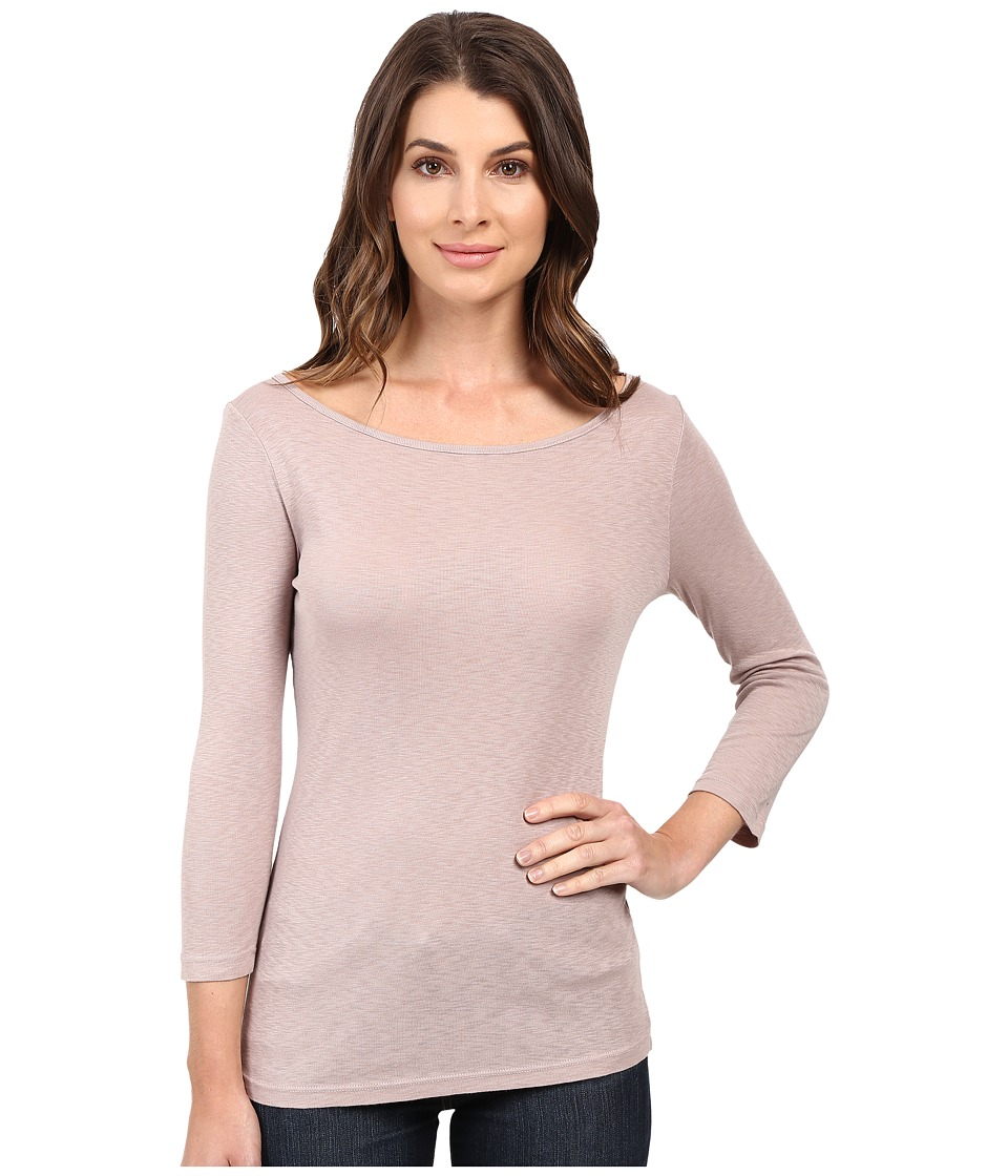 Three Dots - Hannah 3/4 Sleeve British Tee (Ballet Pink) Women