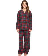 LAUREN Ralph Lauren - Petite Folded Brushed Twill Pajama
