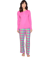 LAUREN Ralph Lauren - Henley Top Flannel Pants PJ Set