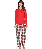 LAUREN Ralph Lauren - Folded Henley Top with Pants PJ