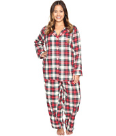 LAUREN Ralph Lauren - Plus Size Folded Brushed Twill PJ