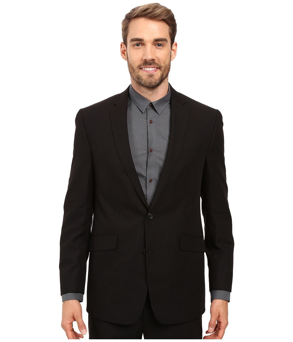 Kenneth Cole Reaction - Slim Fit Separate Coat (Black) Mens Coat