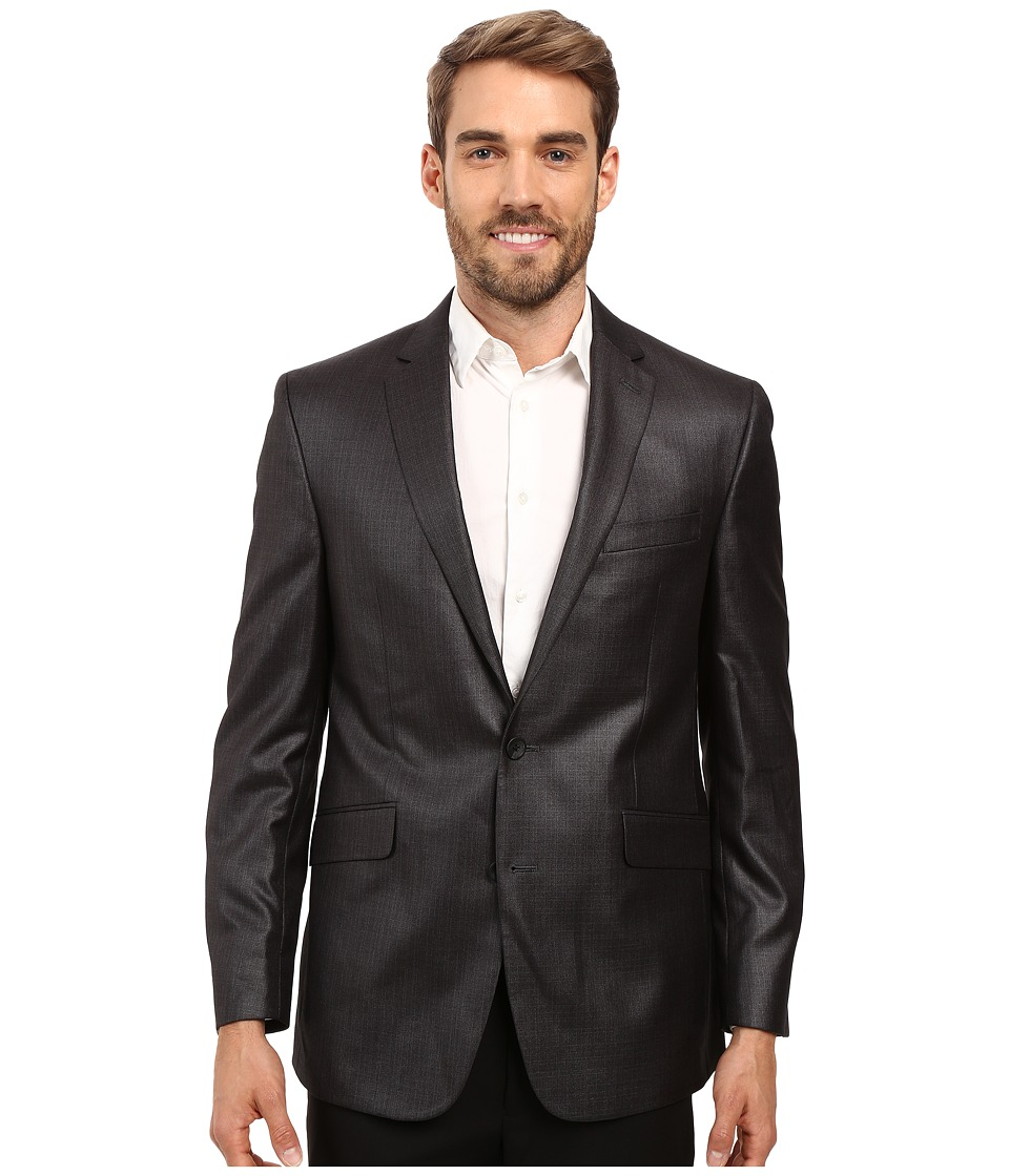 Kenneth Cole Reaction - Slim Fit Separate Coat (Grey Shee...