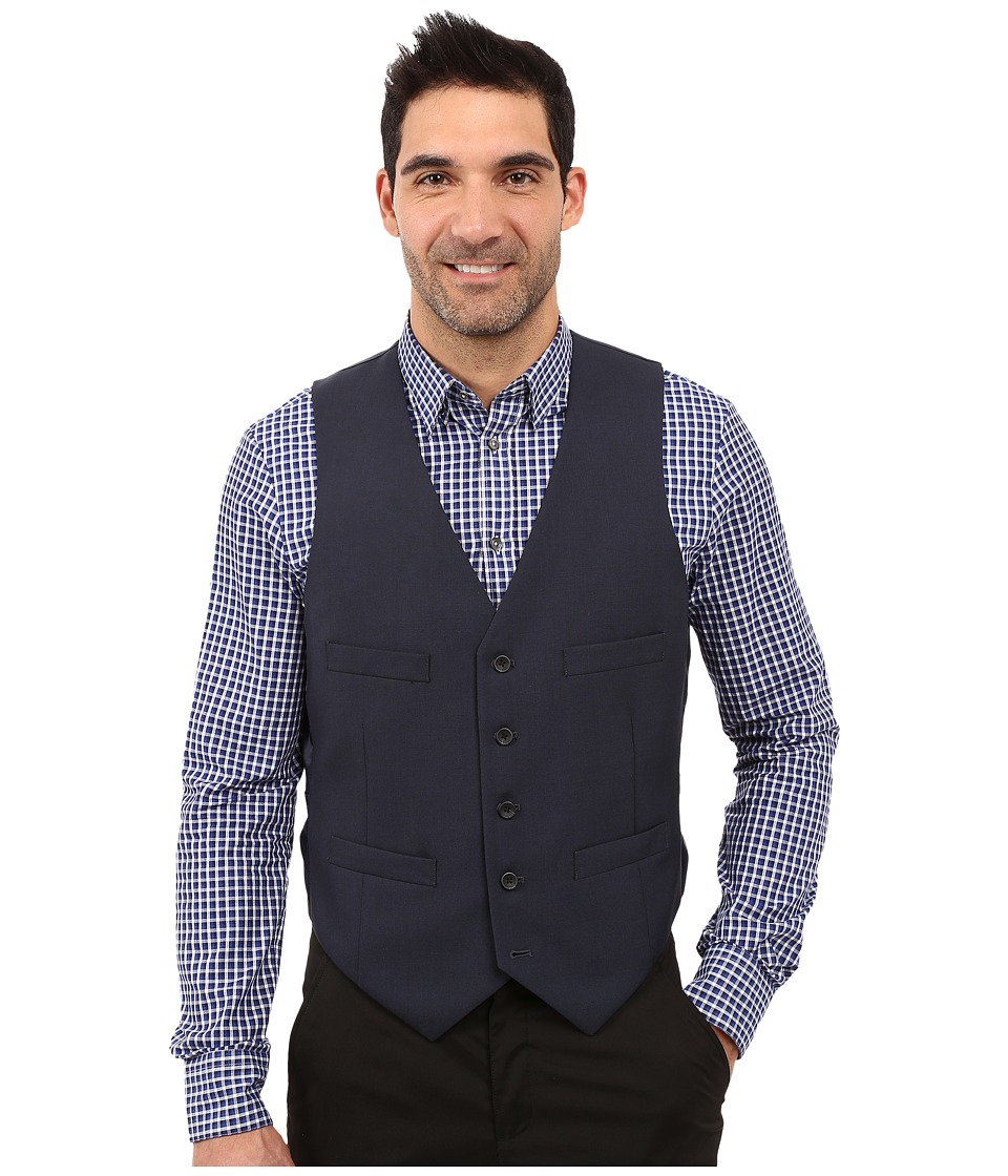 Kenneth Cole Reaction - Slim Fit Separate Vest (Blue) Mens Vest