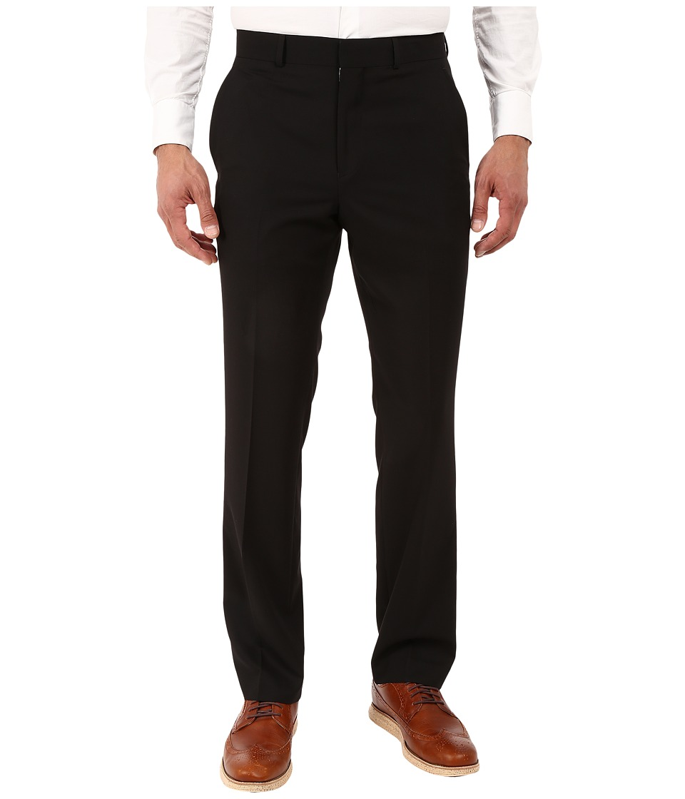 Kenneth Cole Reaction - Slim Fit Separate Pants (Black) Mens Dress Pants