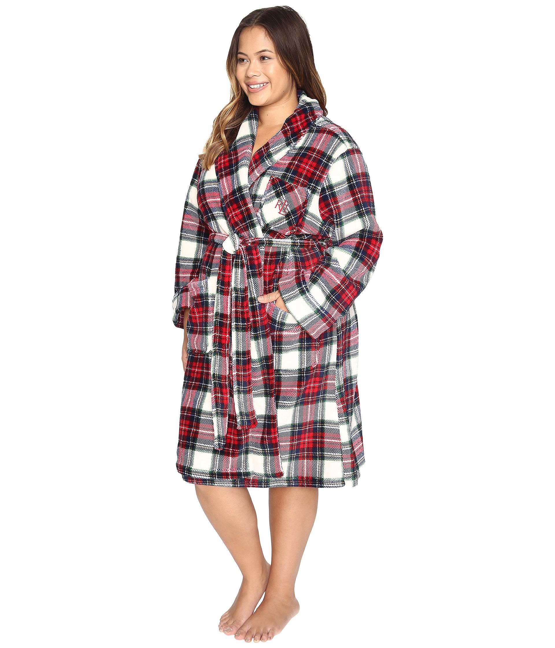 lauren ralph lauren plus size folded so soft terry short robe free shipping both ways. Black Bedroom Furniture Sets. Home Design Ideas