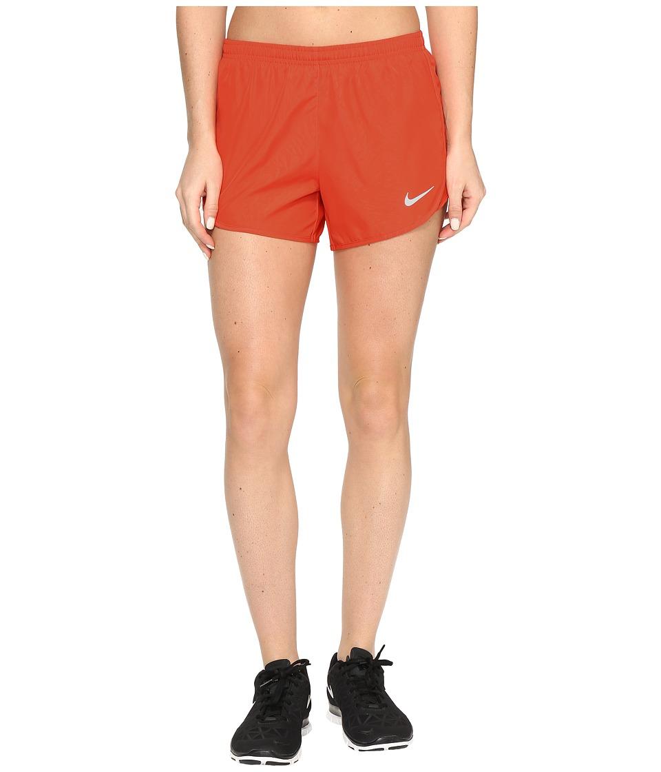 Nike Dry Tempo 3 Running Short (Max Orange/Reflective Silver) Women