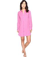 LAUREN Ralph Lauren - Long Sleeve Popover Sleepshirt