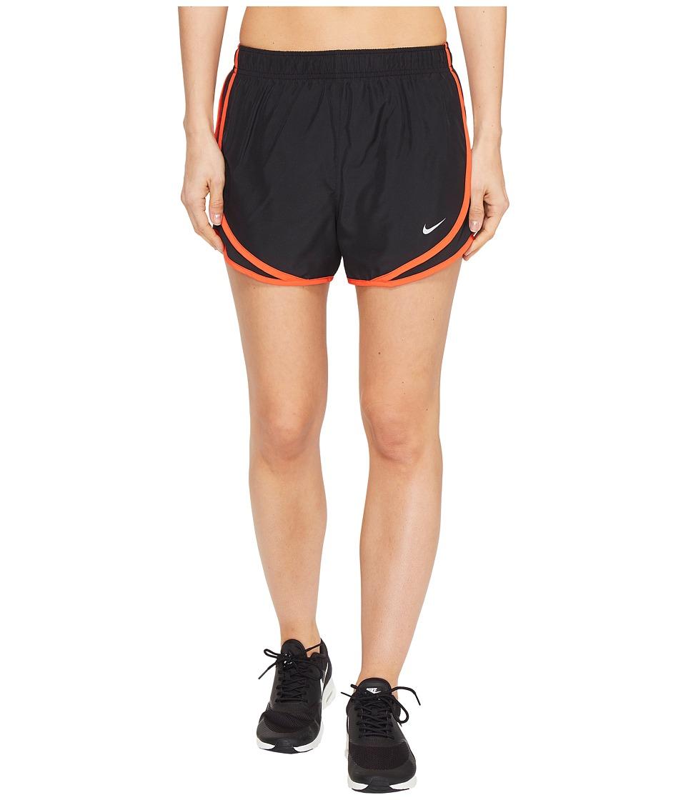 Nike Dry Tempo Short (Black/Black/Max Orange/Wolf Grey) Women