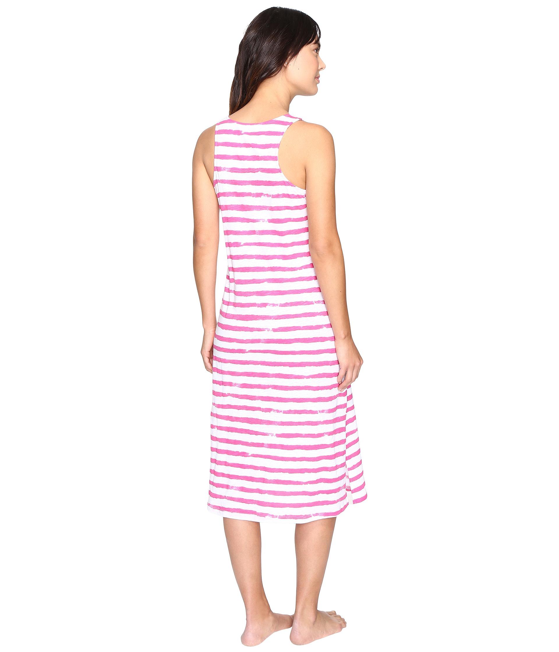 lauren ralph lauren jersey knit ballet gown stripe pink white free shipping both ways. Black Bedroom Furniture Sets. Home Design Ideas