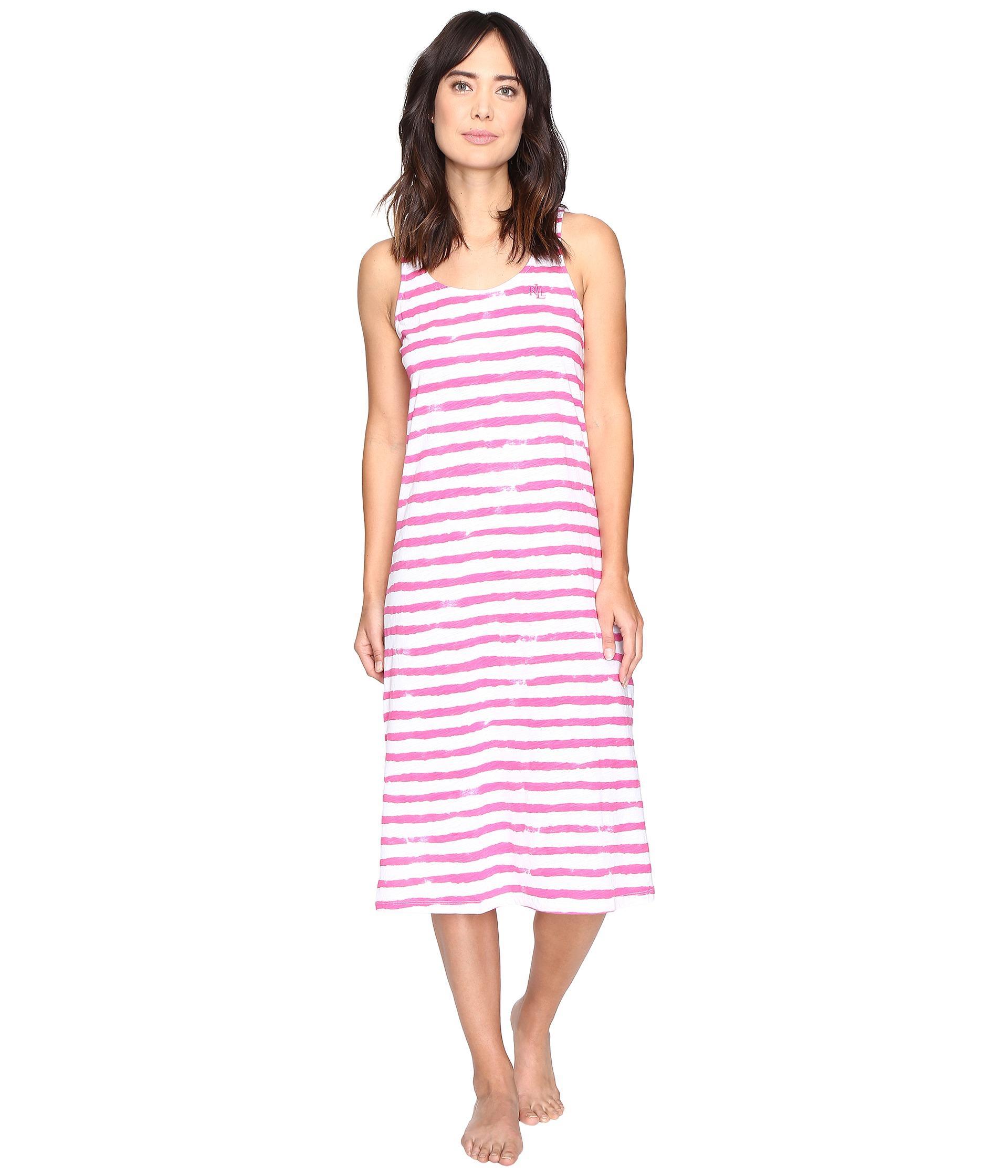 Lauren ralph lauren jersey knit ballet gown stripe pink for Jersey knit wedding dress