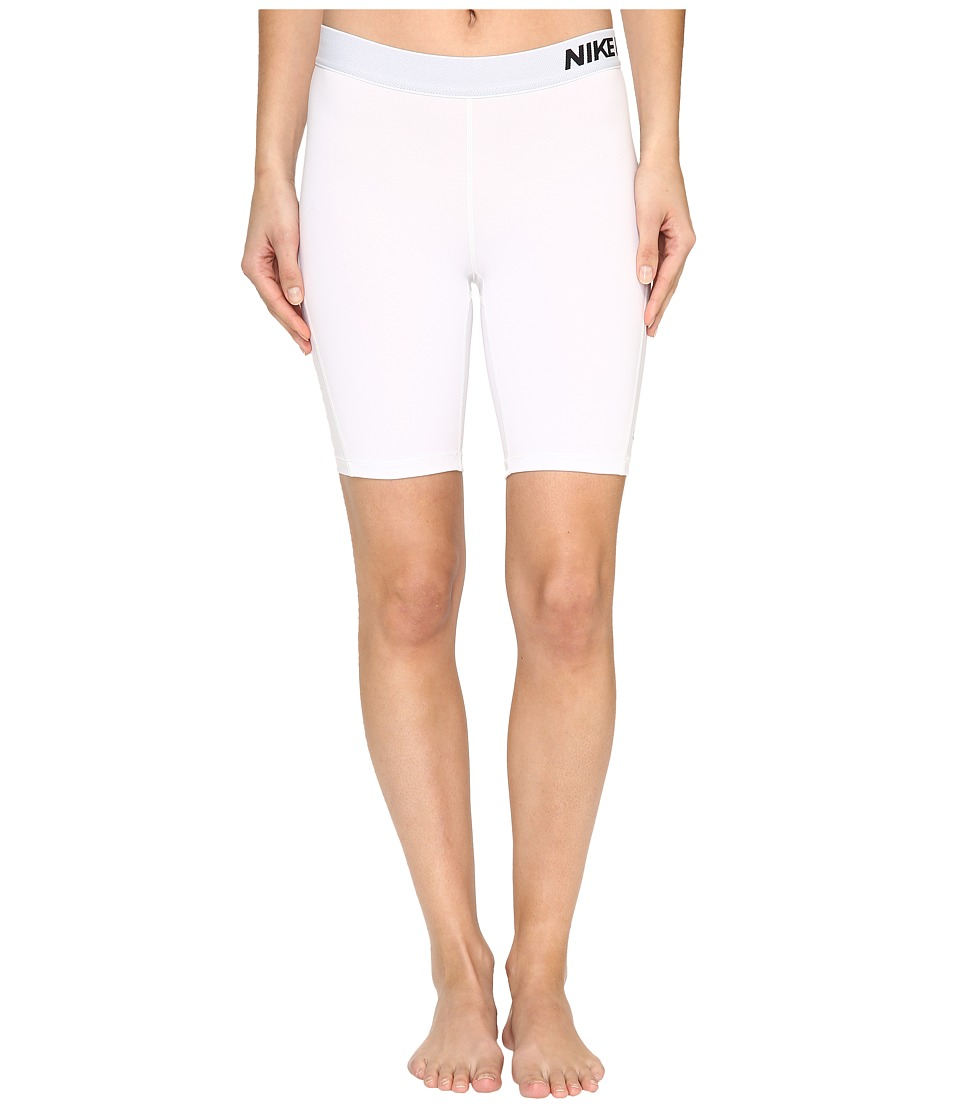 Nike Pro 8 Short (White/Black) Women