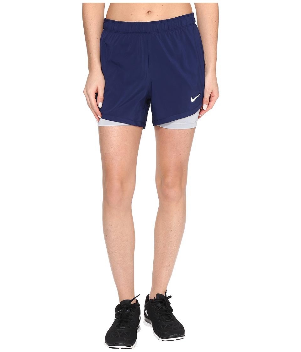 Nike Flex 2-in-1 Training Short (Binary Blue/Wolf Grey/White) Women