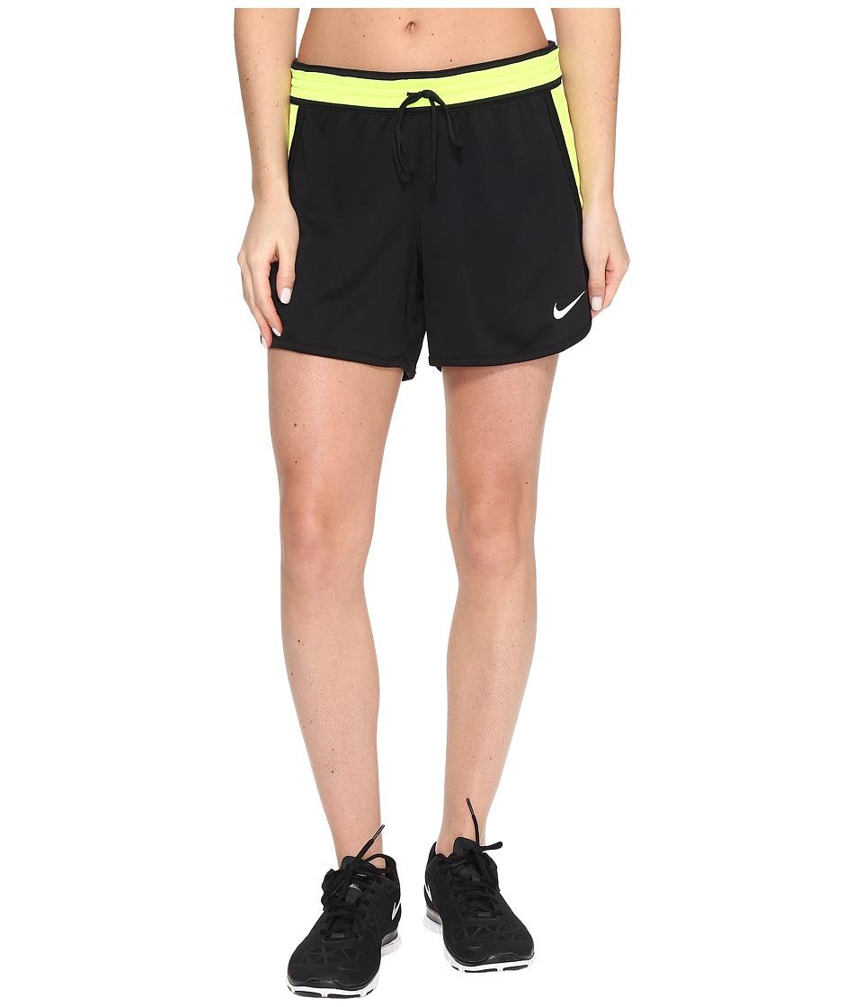 Nike Dry Infiknit Short (Black/Volt/Black/White) Women