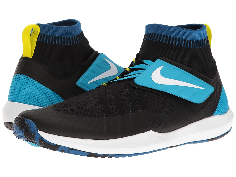 Nike - Train Dynamic (Black/White/Industrial Blue/Chlorine Blue) Mens Cross Training Shoes