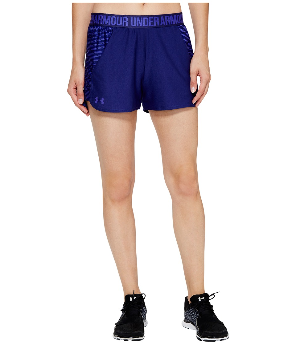 Under Armour - New Play Up Shorts Printed (Europa Purple) Womens Shorts
