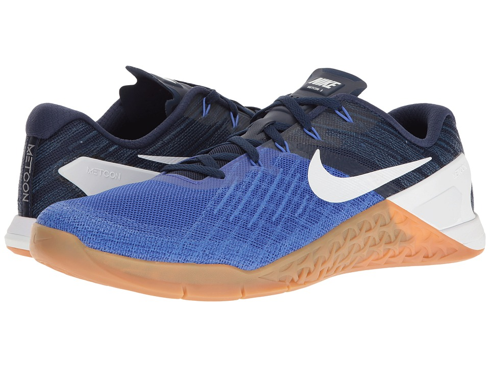 Nike Metcon 3 (Paramount Blue/White/Binary Blue/Gum Medium Brown) Men