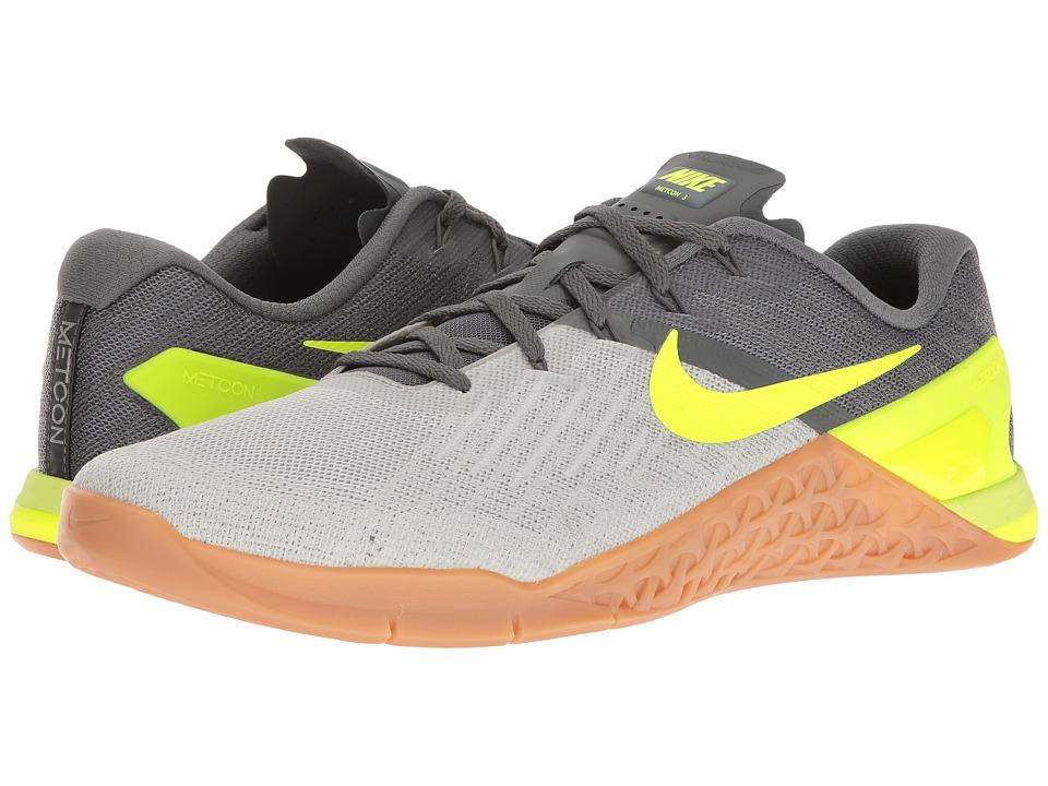 Nike Metcon 3 (Dark Grey/Volt/Pale Grey/Light Bone) Men