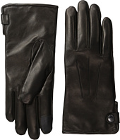 Cole Haan - Side Snap Leather Gloves with Center Points and Tech
