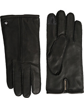 Cole Haan - Handsewn Deerskin Leather Gloves with Single Point and Tech
