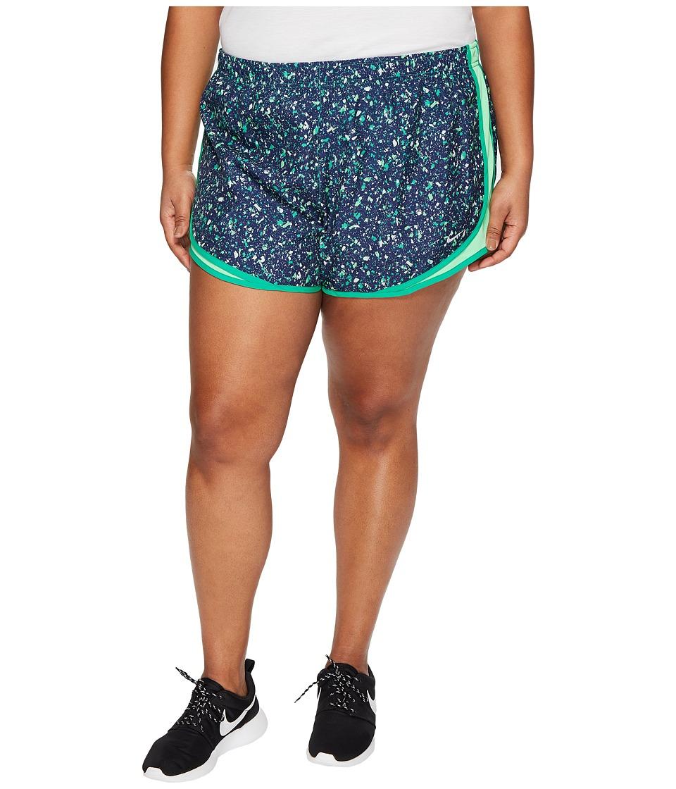 Nike Dry Tempo Print 3 Running Short (Size 1X-3X) (Stadium Green/Electro Green/Wolf Grey) Women