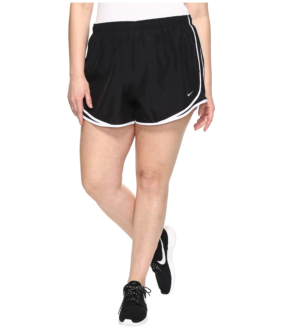 Nike Dry Tempo 3 Running Short (Size 1X-3X) (Black/Black/White/Wolf Grey) Women