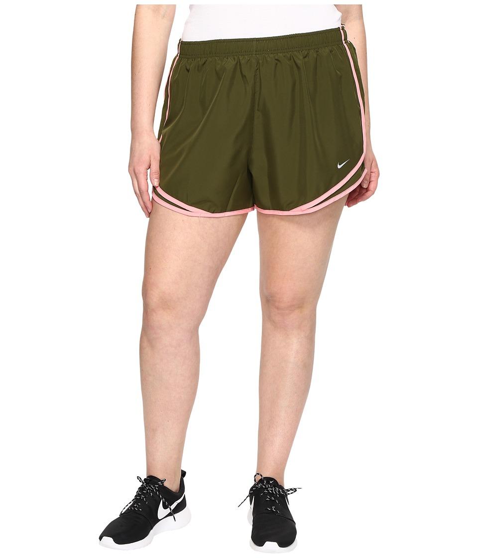 Nike Dry Tempo 3 Running Short (Size 1X-3X) (Legion Green/Legion Green/Wolf Grey) Women