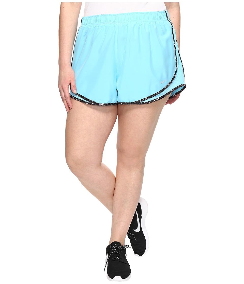 Nike Dry Tempo 3 Running Short (Size 1X-3X) (Vivid Sky/Black/Wolf Grey/Wolf Grey) Women