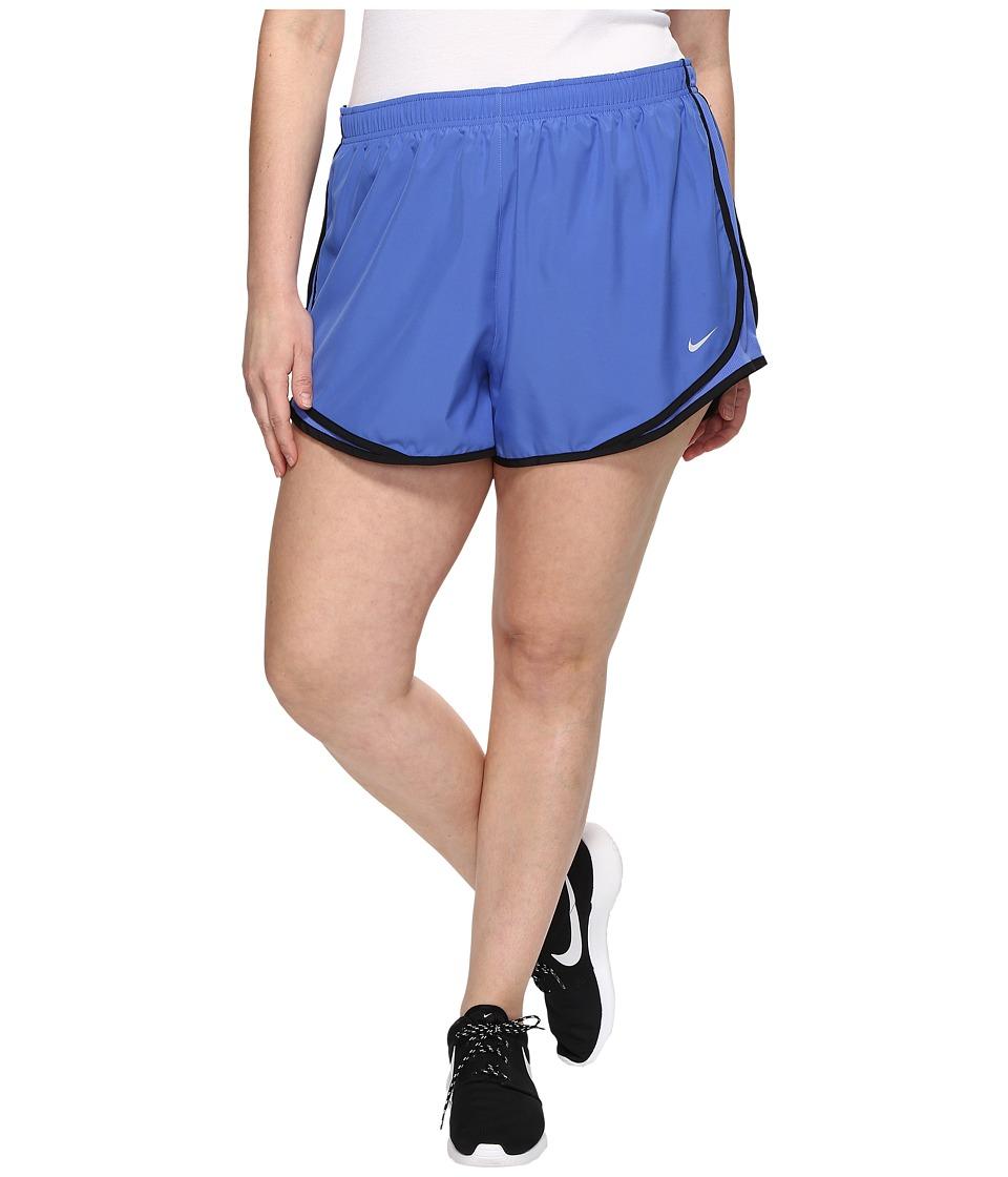 Nike Dry Tempo 3 Running Short (Size 1X-3X) (Comet Blue/Comet Blue/Black/Wolf Grey) Women