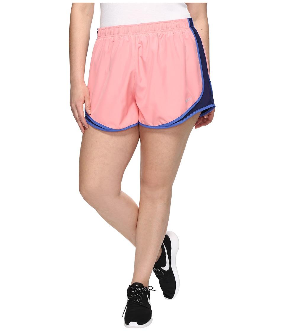 Nike Dry Tempo 3 Running Short (Size 1X-3X) (Bright Melon/Binary Blue/Wolf Grey) Women