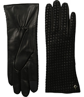 Cole Haan - Braided Back Leather Gloves with Tech