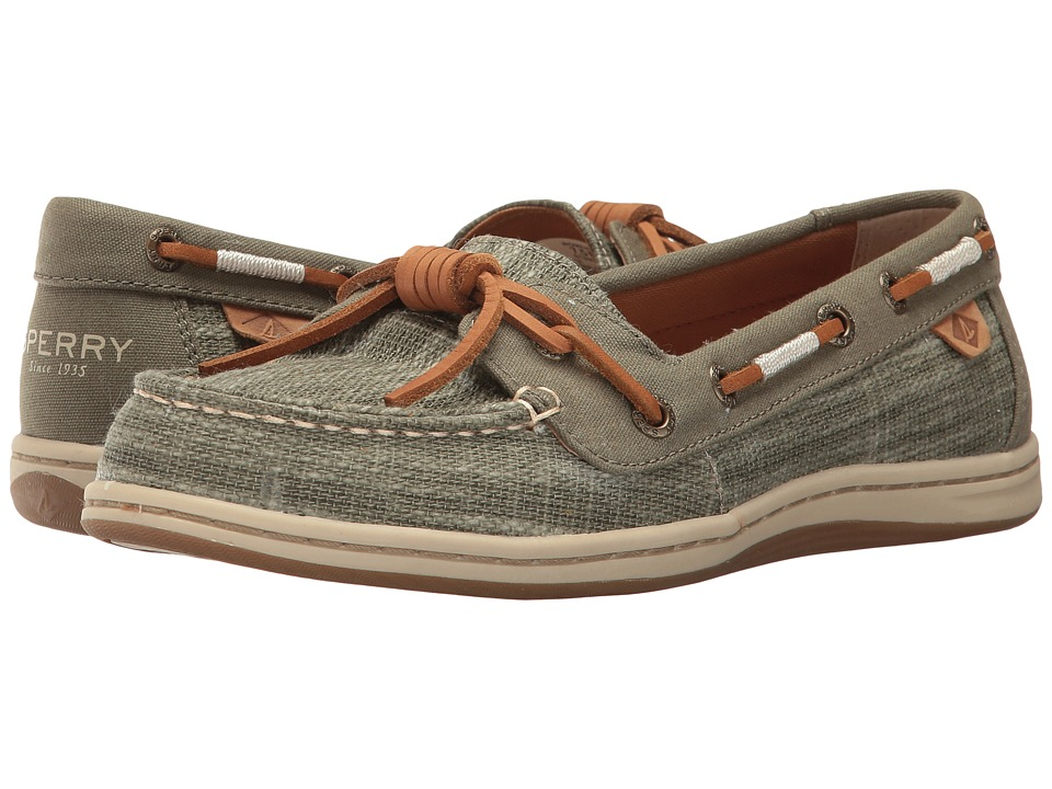 Sperry Barrelfish Heavy Linen (Olive) Women