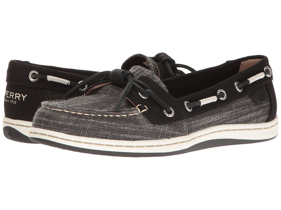 Sperry Barrelfish Heavy Linen (Black) Women